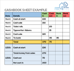Cashbook Sheet Example